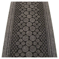 Ideal DIY 67cm Grey Circles Liverpool Carpet Runner - Linear Metre