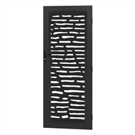 Protector Aluminium 813 x 2032mm Black Profile Geometric Deco Barrier Door
