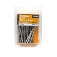 Paslode 100 x 4.5 500g Bright Steel Flat Head Nails - 35 Pack