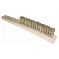 Josco 4 Row Long Brass Wire Brush