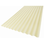 Suntuf 860 x 17mm x 2.4m Smooth Cream Standard Corrugated Polycarbonate Sheet