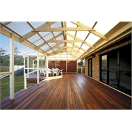 Softwoods 6.0 x 4.3m Pre-Cut Gable Attached Suntuf Standard Pergola Kit