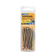 Zenith 10g x 65mm Countersunk Ribbed Head Chipboard Screws - 14 Pack
