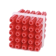Ramset 6 x 35mm Red Frame Wall Plugs Pack of 25