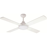 Mercator 120cm White Glendale Ceiling Fan