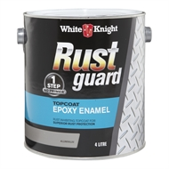 White Knight Rust Guard 4L Aluminium Epoxy Enamel Paint
