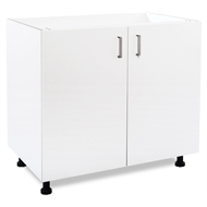 Flatpax Utility 900mm White 2 Door Base Cupboard