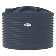 Polymaster 4500L Squat Round Corrugated Poly Water Tank - Mountain Blue