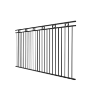 Protector Aluminium 2450 x 1500mm Custom Double Top Rail With Rings Fence Panel
