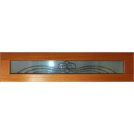 Woodcraft Doors 1800 x 400 x 40mm Black Leadlite  Hi Lite