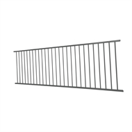 Protector Aluminium 2400 x 900mm Flat Top Fence Panel - Monument