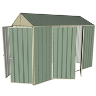 Build-a-Shed 1.5 x 3.0 x 2.3m Double Hinged Side Door Gable Shed - Green