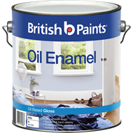 British Paints 4L Gloss White Enamel Paint