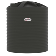 Polymaster 7200L Round Corrugated Poly Water Tank - Slate Grey