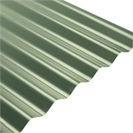 COLORBOND® Steel XRW S-Rib™ Corrugated .42 BMT Steel Roofing - Cottage Green