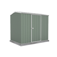 Garden Pro 2.26 x 1.52 x 1.95m Gable Roof Single Door Shed - Green