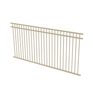 Protector Aluminium 2450 x 1200mm Double Top Rail All Up Ulti-M8 Fence Panel - Paperbark