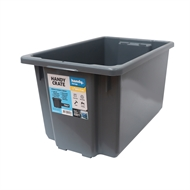 Handy Storage 70L Grey Heavy Duty Crate