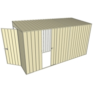 Build-a-Shed 1.5 x 3.7 x 2m Single Sliding Side Door Skillion Shed - Cream