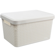 Ezy Storage 17.3L Mode Basket With Lid - Sugar Swizzle