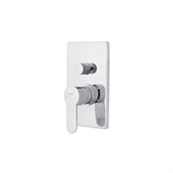 Azzurra Bathroom Furniture Isis Square Plate Shower / Bath Diverter Mixer