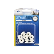 Zenith 5mm White Shock Cord Button - 8 Pack