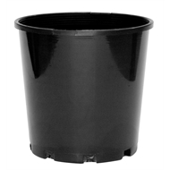 Reko 100mm Black Round Plastic Growers Pot