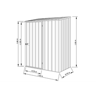 Absco Sheds 1.52 x 0.78 x 1.95m Space Saver Single Door Shed - Pale Eucalypt