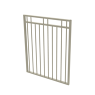 Protector Aluminium 975 x 1200mm Double Top Rail 2 Up 2 Down Gate - To Suit Gudgeon Hinges - Paperbark