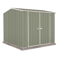 Absco Sheds 2.26 x 2.26 x 2.00m Premier Double Door Shed - Pale Eucalypt