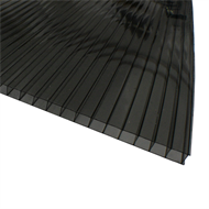 Sunlite 10mm Twinwall x 2.4m Solar Grey Polycarbonate Roofing