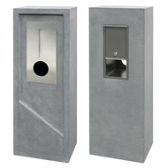 Northcote Pottery Ash Grey Elite Ormond Pillar Letterbox
