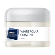 Dulux 100ml White Polar Quarter Sample Pot