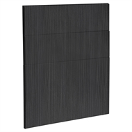 Kaboodle 600mm Black Forest Modern 3 Drawer Panels