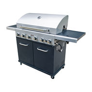 Jumbuck 6 Burner Hooded Stardom BBQ with Side Burner