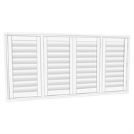 EasyAS 1810 x 900mm Adjustable Plantation Shutter