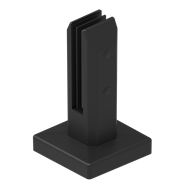 Architects Choice 295 x 210 x 345mm Black Stainless Steel Chisel Mini Glass Fence Post - 6 Pack