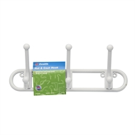 Zenith White Plastic Triple Hat And Coat Hook Rack
