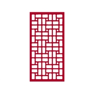 Protector Aluminium 600 x 900mm ACP Profile 21 Decorative Panel Unframed - Light Red