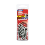 Zenith 8g x 35mm Galvanised Countersunk Ribbed Head Metal Screws - 22 Pack