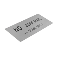 Sandleford 140 x 65mm No Junk Mail Stainless Steel Sign