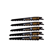 DeWALT 152mm 4/6 TPI BiM Reciprocating Saw Blades - 5 Pack
