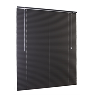 Zone Interiors 90 x 210cm 25mm Matte Black Aluminium Venetian Blind