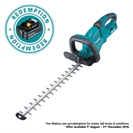 Makita LXT 18V x 2 Li-ion 550mm Cordless Hedge Trimmer - Skin Only