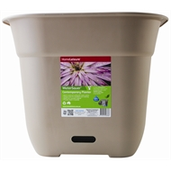 HomeLeisure 500mm Taupe Square WaterSaver Contemporary Planter
