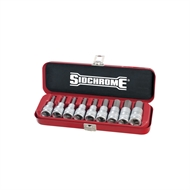 Sidchrome 9 Piece AF 1/2'' Drive In-Hex Socket