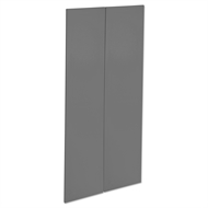 Kaboodle 900mm Smoked Grey Modern Pantry Doors - 2 Pack