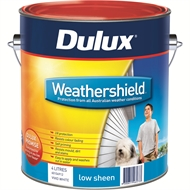 Dulux Weathershield 4L Low Sheen Bright Exterior Paint