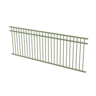 Protector Aluminium 2450 x 900mm Double Top Rail All Up Fence Panel - Pale Eucalypt