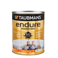 Taubmans Endure 1L Low Sheen White Interior Wall Paint